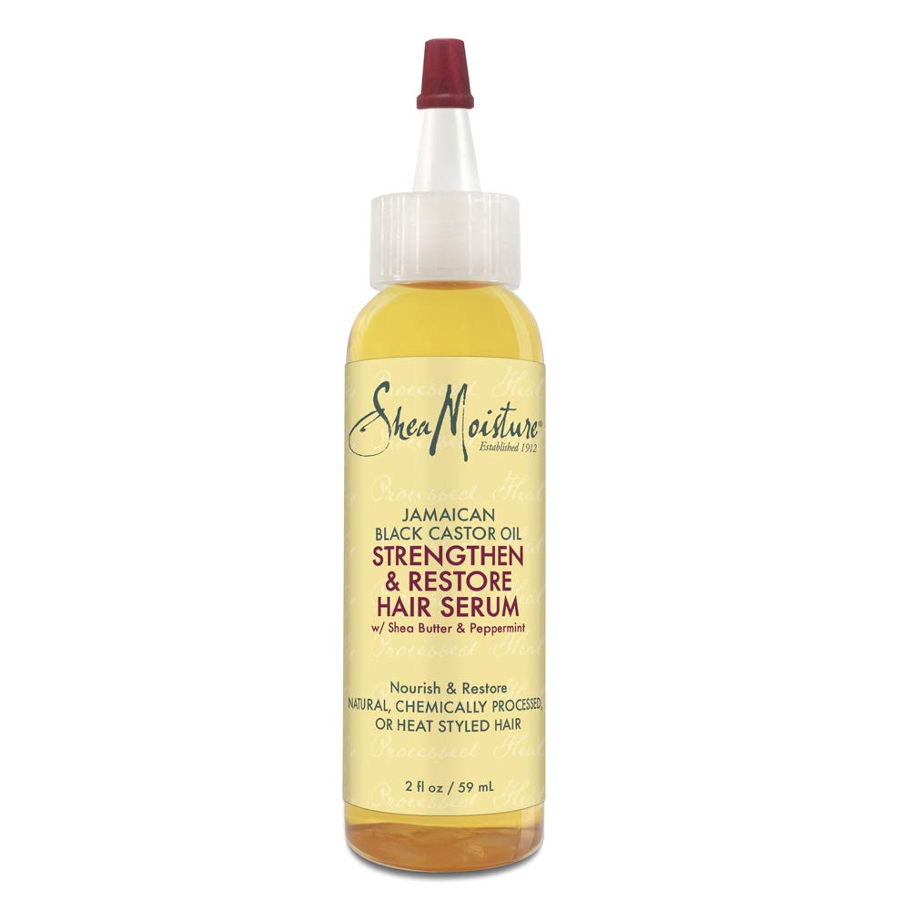 Sheamoisture Hair Serum Oil for Damaged Hair Jamaican Black Castor Oil Hair Oil with Shea Butter 2 oz