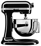 KitchenAid 6-Qt. Bowl-Lift Stand Mixer with Wire Whip, Flat Beater, and Spiral Dough Hook - Onyx Black