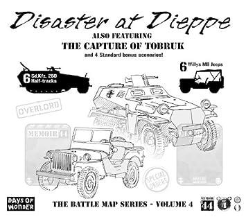 Memoir 44 Battle Map Disaster at Dieppe Board Game Board Games