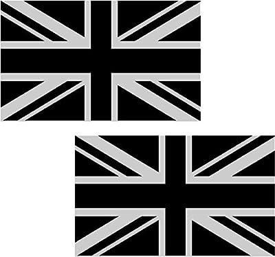 "2 - 3"" Great Britain Union UK Jack Subdued Flag Decal SET British Vinyl Sticker"