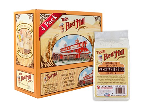 Make Easy Gluten Free Crepes with Rice Flour with Bob's Red Mill Rice Flour Sweet White, 24 Ounce (Pack of 4)