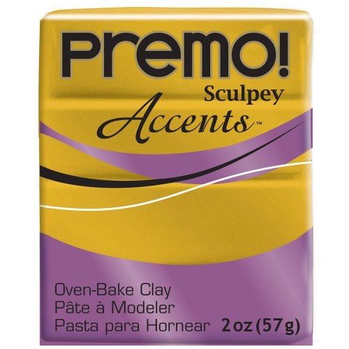 Sculpey Premo Polymer Clay 2 Ounces-Antique Gold