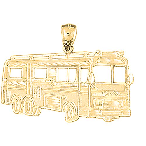 Jewels Obsession Bus Pendant   10K Yellow Gold Bus Pendant - 29 mm