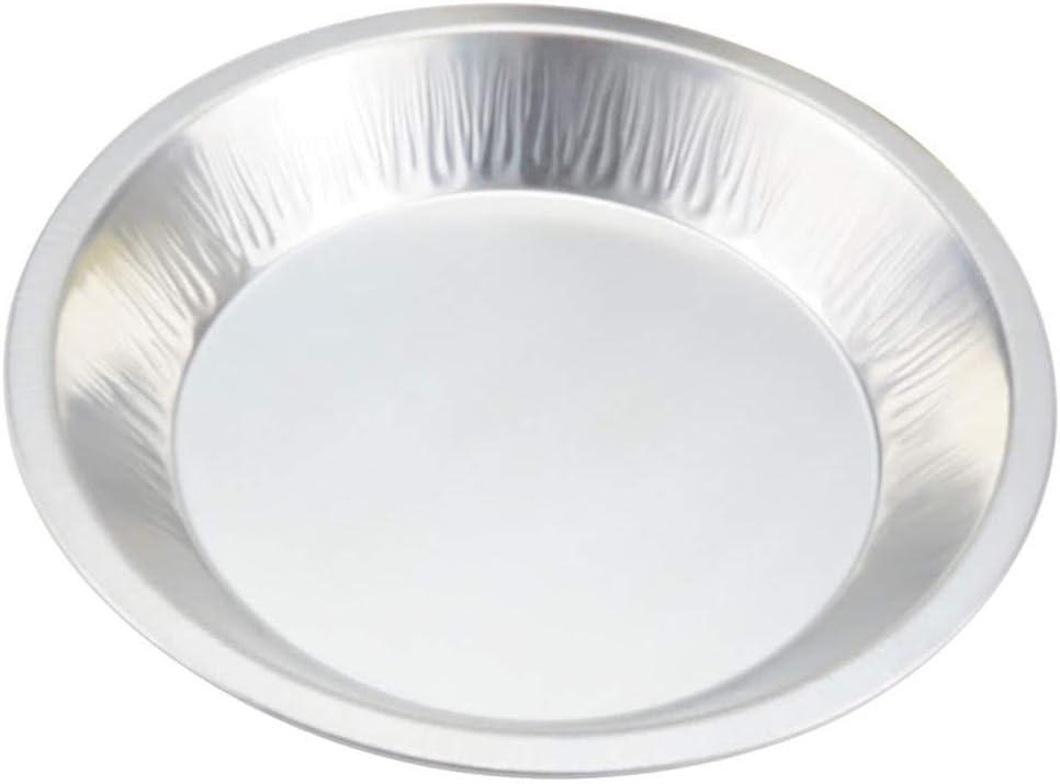 """KitchenDance (9-1/2"""" Rim to Rim) Disposable Heavyweight Aluminum Foil Pie Pans #1070 (25)"""