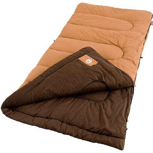 Coleman Dunnock 81x39 Inch Rectangle Sleeping Bag Orng/Brwn [並行輸入品] B07DBWRKF8