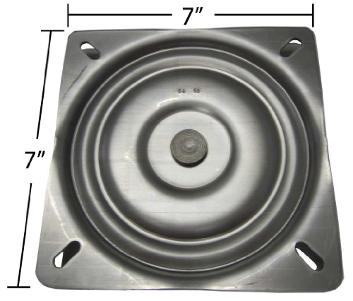 """7"""" Replacement Bar Stool Swivel Plate - Made in the USA - S4"""