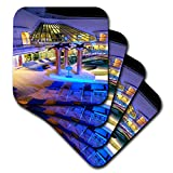 3dRose Lens Art by Florene - Cruise Ship Sites - Image of Adult Pool Area With Spa - set of 8 Ceramic Tile Coasters (cst_291436_4)