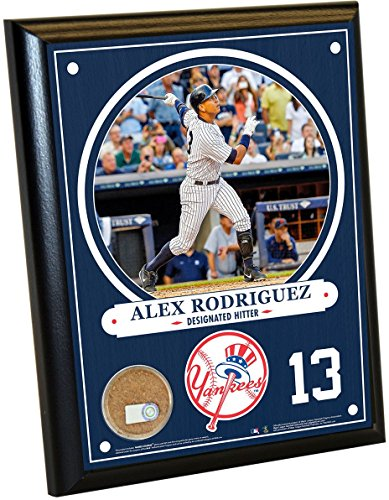 New York Yankees Alex Rodriguez 8x10 Plaque with Game Used Dirt from Yankee Stadium (Yankee Stadium Plaques)