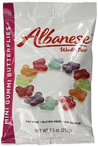- Albanese Candy, Mini Gummi Butterflies, 7.5-Ounce Bag, Pack of 12