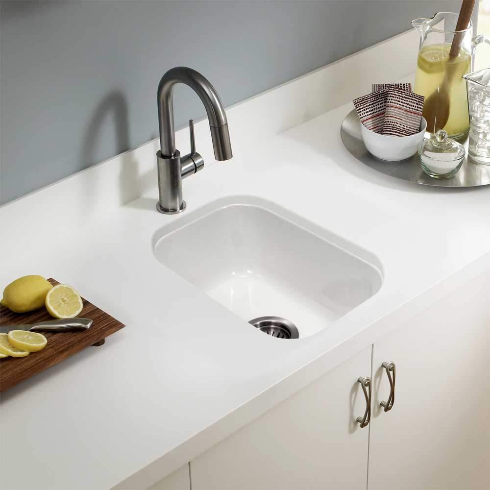 Houzer PTB-1318 WH Fireclay Bar Sink White by HOUZER (Image #3)