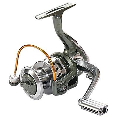 Rose Kuli Spinning Reel Metal Spool Baitcasting Fishing Reel 12+1 Ball Bearings for Freshwater and Saltwater 3000 4000 Series