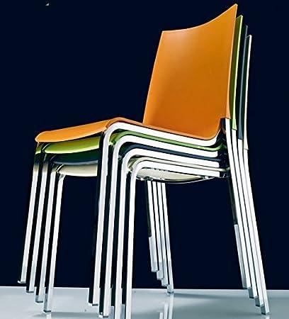 Set di 2 sedie Eva di Bontempi in polipropilene, Arancio: Amazon.it ...