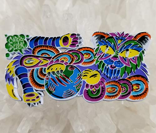 - Chris Dyer Trippy Cat Kitten Kitty White Metal 2.5