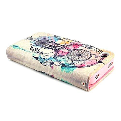 Yaobai-Cuir Coque Strass Case Etui Coque étui de portefeuille protection Coque Case Cas Cuir Swag Pour Apple Iphone 5s 5g