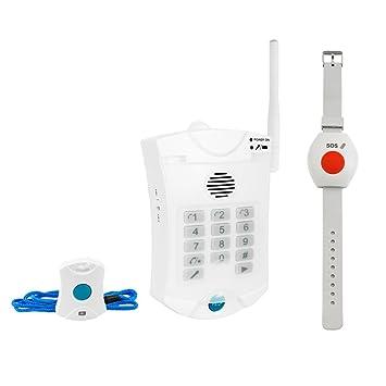 Senioren Funk-Notruf-System inkl. Halsband u. Armband Sender für zu ...
