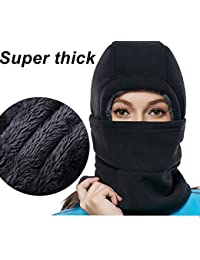 Super Thick Adjustable Soft Balaclava Winter Windproof Ski Face Mask for Men,Women and Children,Cold Weather Fleece...