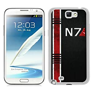 Beautiful And Unique Designed Case For Samsung Galaxy Note 2 N7100 With Mass Effect N7 white Phone Case
