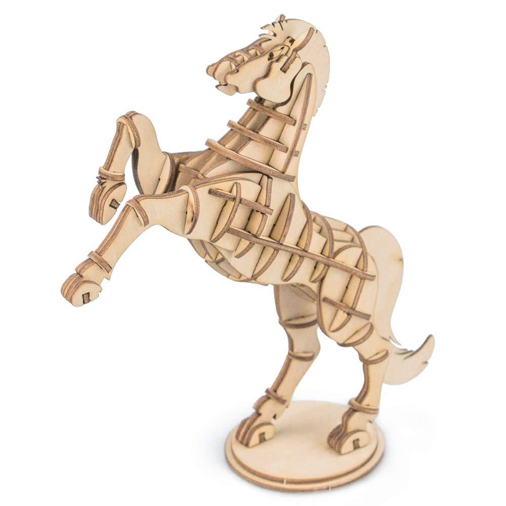 LSQR 3D Puzzle Kinder Spielzeug, Holz Pferd Puzzle Lernspielzeug Lernspielzeug Lernspielzeug Handwerk Jigsaw Montieren Modell Woodcraft Geburtstag 89b795