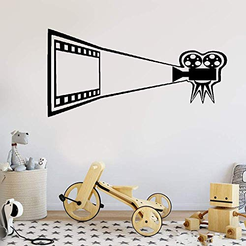 Nylleu Removable Vinyl Wall Stickers Mural Decal Art Home Decor Cinema Movie Camera Theater Film Room