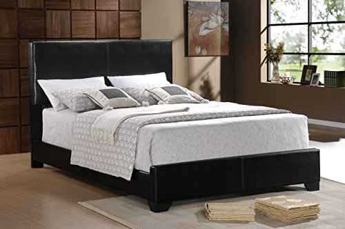 Furniture World Preston Contemporary Upholstered Bed, Queen,