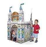 Melissa & Doug 5519 Medieval Castle Indoor Corrugate Playhouse (Over 5' Tall), Multicolor