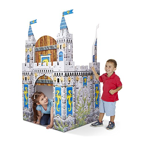 Melissa & Doug Medieval Castle Indoor Corrugate Playhouse (Over 5 Feet Tall)