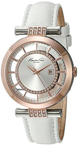 Kenneth Cole New York Women's 10021107 Transparency Analog Display Japanese Quartz White Watch