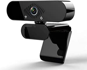 1080P Webcam with Microphone, HD PC Webcam Laptop Plug and Play USB Webcam Streaming Computer Web Camera with 110-Degree View Angle, Desktop Webcam for Video Calling Recording Conferencing