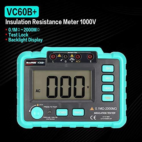 1000V R/ésistance disolement num/érique Testeur M/égohmm/ètre Megger VC60B