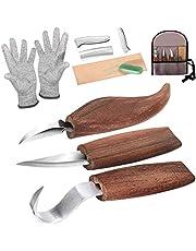Träsnideriverktyg, slöjdkit, träsnideri, knivset, snideri, krok, kniv, täljkniv, mejselkniv, slöjdkniv, pennvässare, skärbeständiga handskar för sked, skål, kopp, träbearbetning