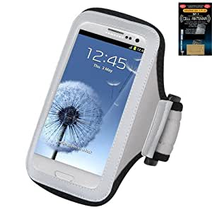 Premium Sport Armband Case for Google LG Nexus 4 E960 - Gray (Grey) + Cell Phone Antenna Booster