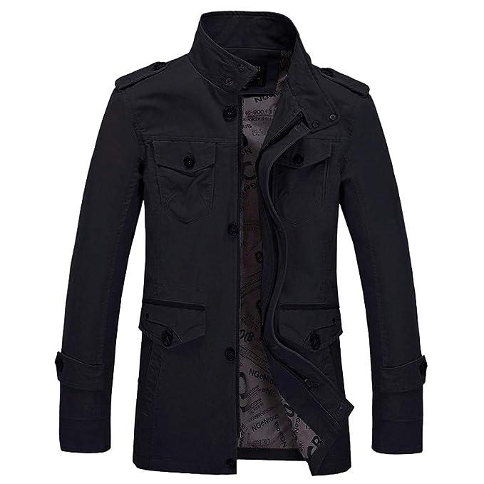 Yesmile ⭐ Chaqueta de Invierno para Hombre Abrigo de Moda Delgado Casual Guapo Outwear Abrigo Delgado