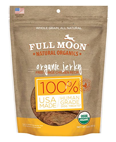 (Full Moon Organic Dog Treats, Human Grade Chicken Jerky, 32 Ounce)