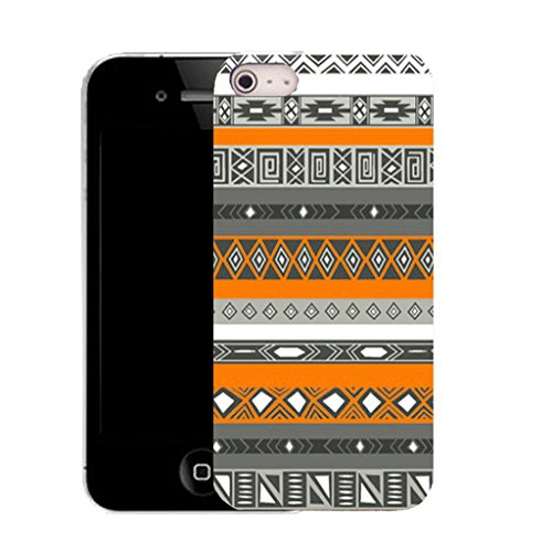 Mobile Case Mate IPhone 4s clip on Silicone Coque couverture case cover Pare-chocs + STYLET - orange tribe pattern (SILICON)