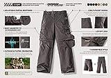 CQR Kids Youth Hiking Cargo Pants, UPF 50+ Quick