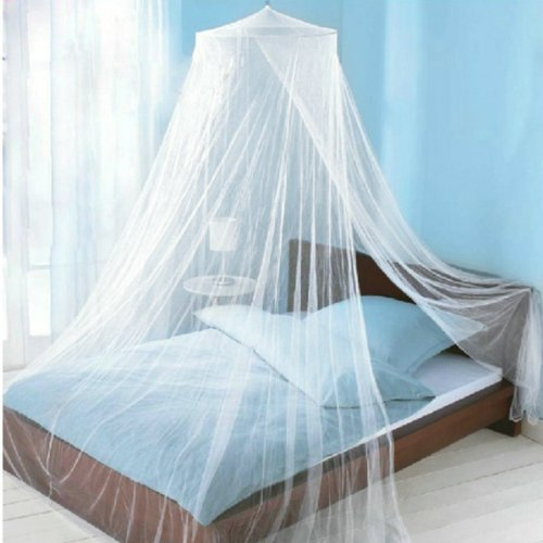 Icibgoods Dome Bed Canopy Netting Princess Mosquito Net for Babies Adults Home (White)