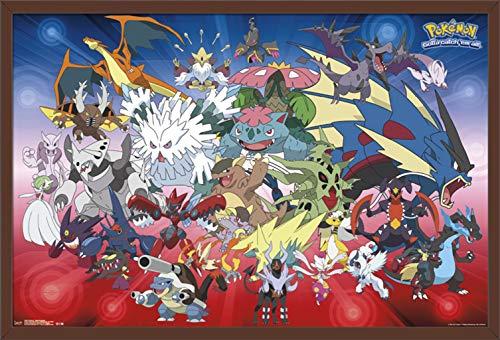 Trends International Pokemon-Mega Evolutions Wall Poster, 24.25 X 35.75 , Multicolor
