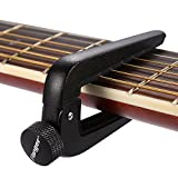 Awaytoy Universal Capo for 6/12 String Acoustic Folk & Classical Guitars for All Size Guitar Black
