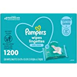 Baby Wipes, Pampers Complete Clean SCENTED Baby Fresh Scent, 15X Pop Top, Hypoallergenic and Dermatologist-Tested, 1200 Count
