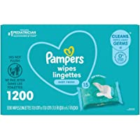 Baby Wipes, Pampers Complete Clean SCENTED Baby Fresh Scent, 15X Pop Top, Hypoallergenic and Dermatologist-Tested, 1200…