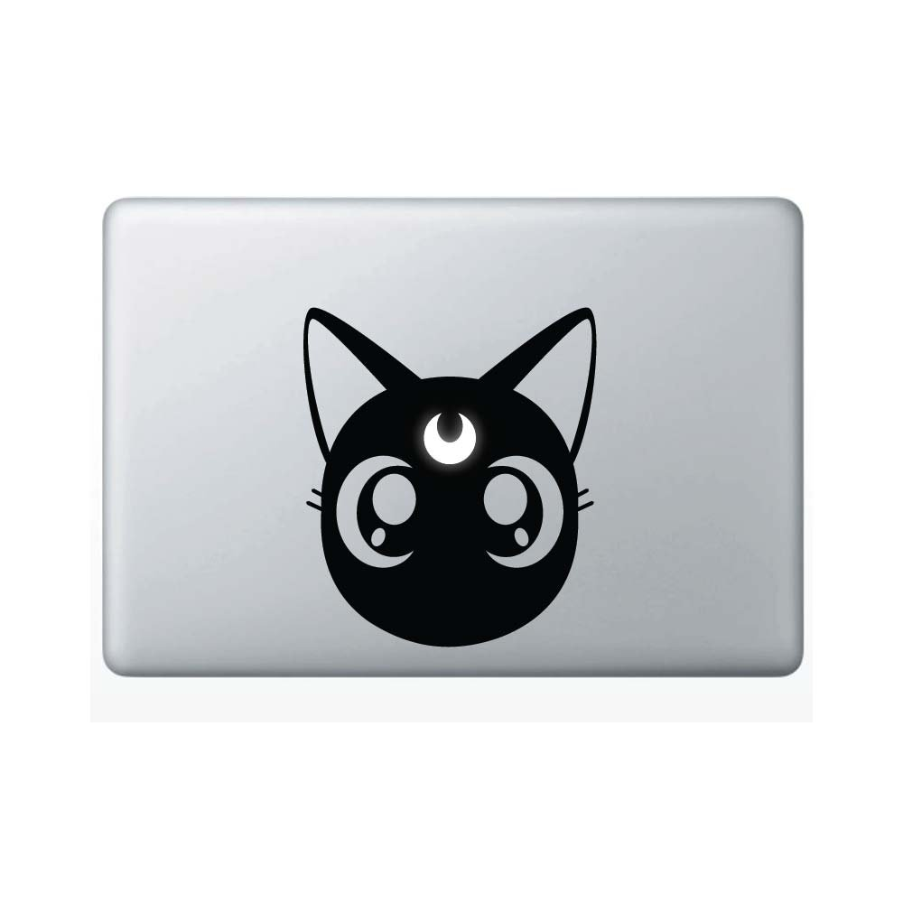 Yoonek Graphics Sailor Moon Luna Vinyl Decal Sticker # 833 Macbook 6.7 x 5.7 Black