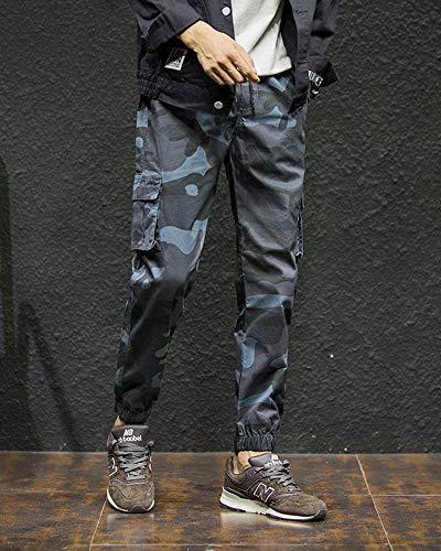 Camouflage Décontractée Coupe Shifan Jogging Pantalon Vetement Slim Gym Gris Foncé Survêtement Hommes qOOCR