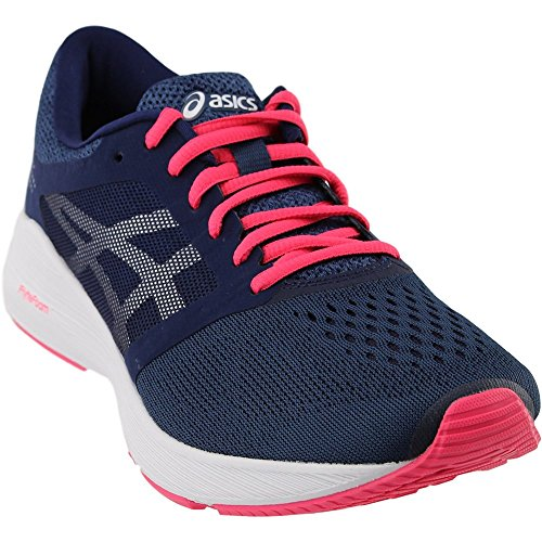 ASICS Roadhawk FF Shoe Women's Running 7.5 Insignia Blue-Silver-Rouge Red