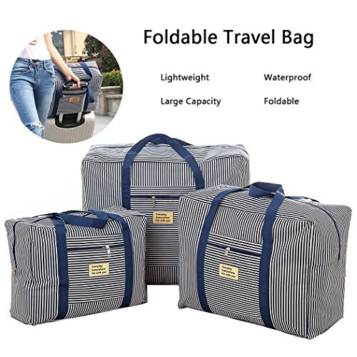 Foldable Travel Bag Waterproof Luggage Bag Clothes Storage Carry-On Duffle Organiser (3SET) from ADVONE