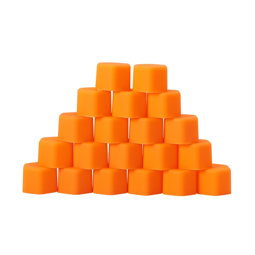 ATMOMO 19mm-ORANGE Silicone Car Wheel Hub Lugs Nuts Bolts Cover Protective Cap Dust Protective Tyre Valve Screw Cap Cover(20pcs/Set) by ATMOMO (Image #2)