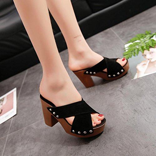 gladiador cm ancha adornado zapatos mujer con talla 6 cuña Lolittas sandalias de de tacón lentejuelas 2 alto de con negro 10 corte plataforma punta para brillo abierta q4x1wI