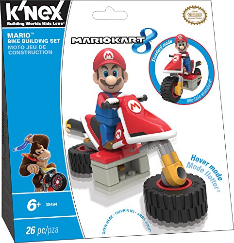 K'NEX Mario Kart 8  - Mario Bike Building Set (Lego Sets Mario Super)