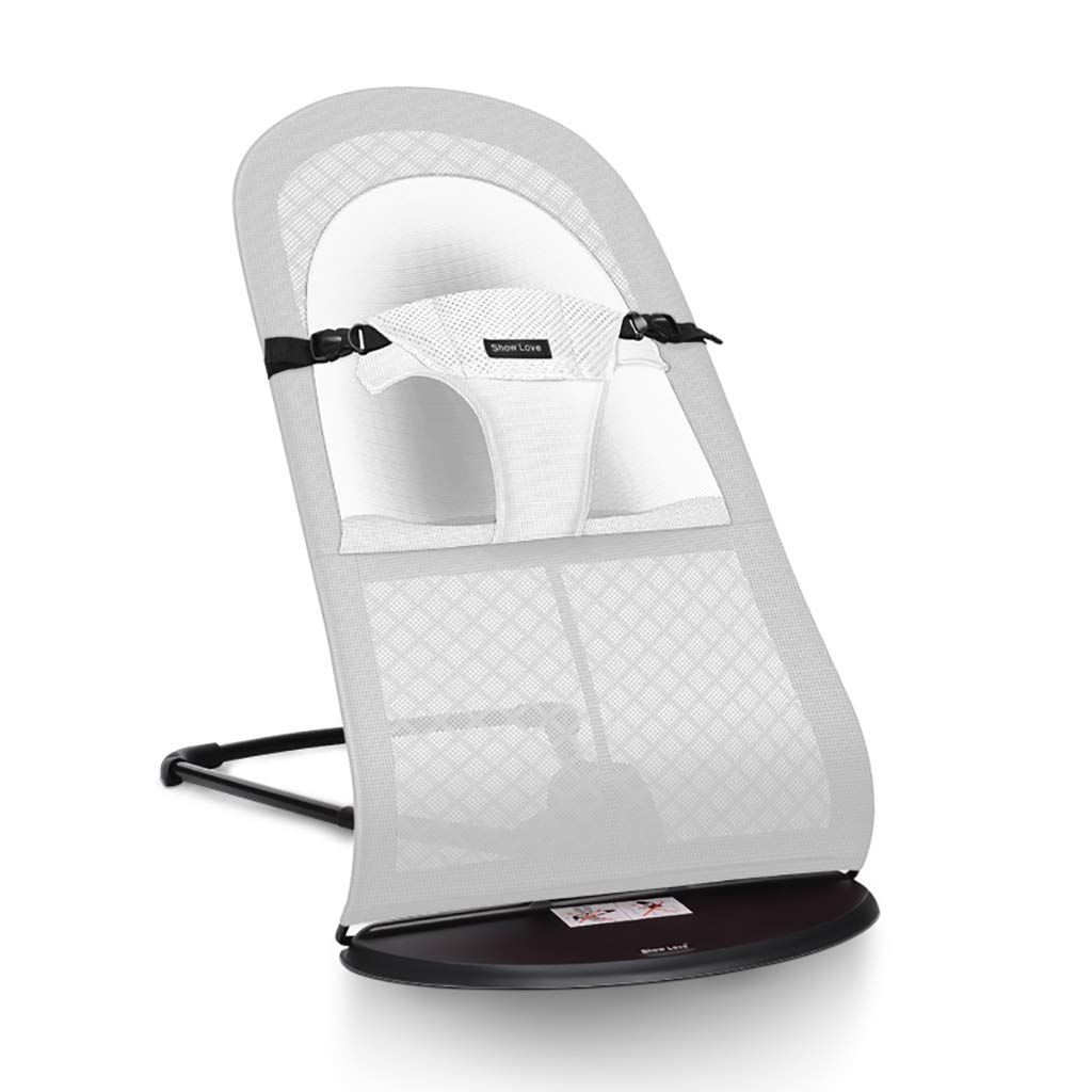 Baby bouncer Balance Soft, Baby Chair The Children's Bouncing Cradle (2 colors, Mesh) (Color : B)