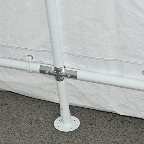 Outsunny 20' x 12' Heavy Duty Temporary Outdoor Carport Canopy Tent - Grey