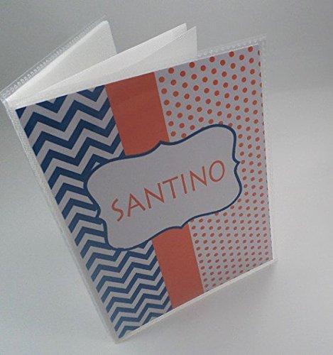 Photo Album 4x6 or 5x7. 112. Boy baby Album . Personalized photo Book. Orange and blue picture album